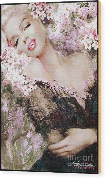 Marilyn Cherry Blossom B Wood Print