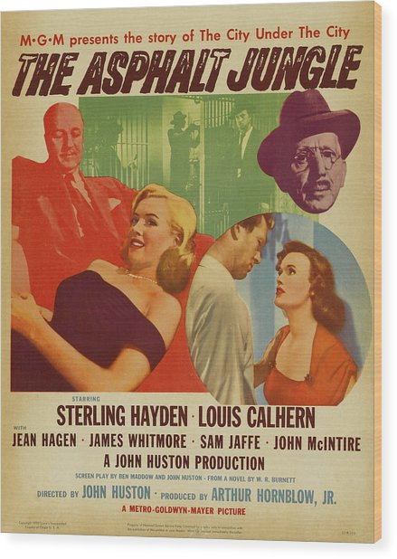 Marilyn Monroe In The Asphalt Jungle Movie Poster Wood Print