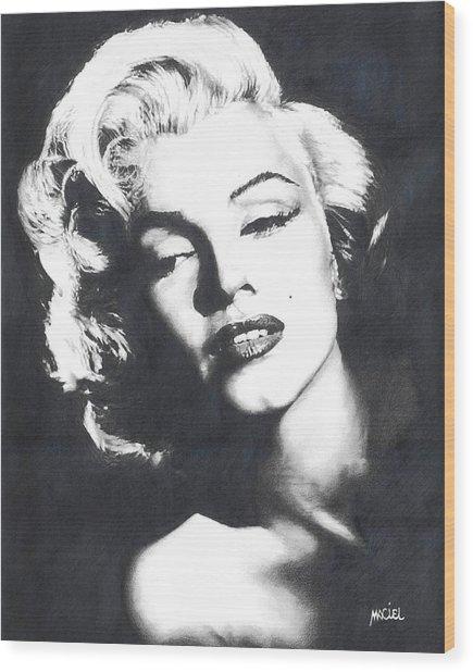 Marilyn Monroe Wood Print by Maciel Cantelmo