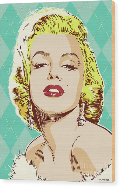 Marilyn Monroe Pop Art Wood Print