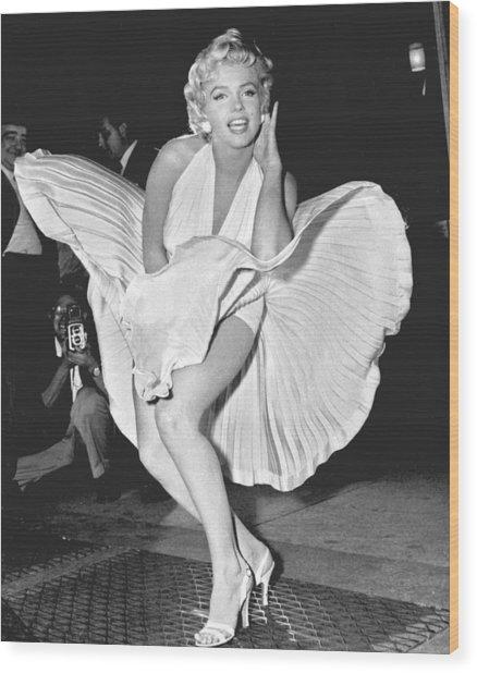 Marilyn Monroe - Seven Year Itch Wood Print