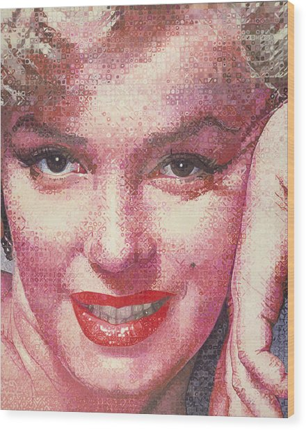 Marilyn Wood Print by Randy Ford