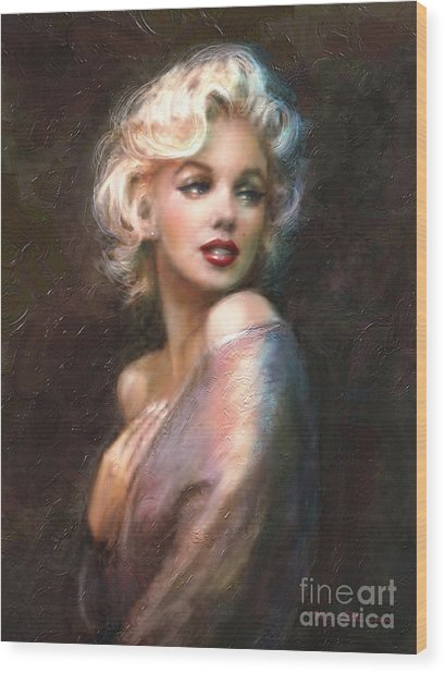 Marilyn Romantic Ww 1 Wood Print