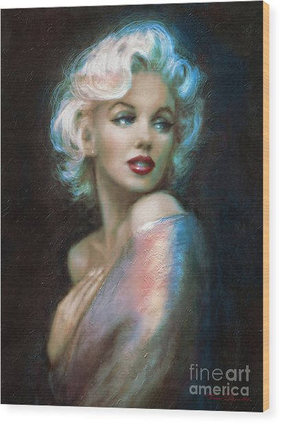 Marilyn Romantic Ww 6 A Wood Print