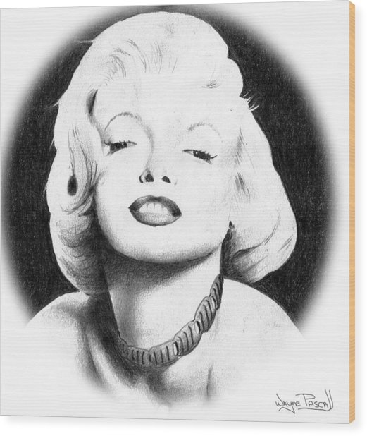 Marilyn Wood Print by Wayne Pascall