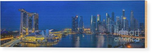 Marina Bay Sand Wood Print