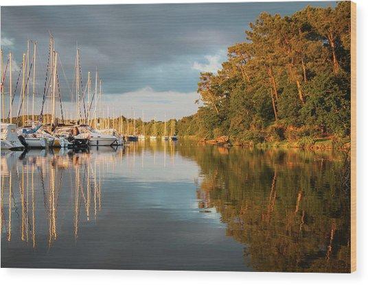 Marina Sunset 10 Wood Print
