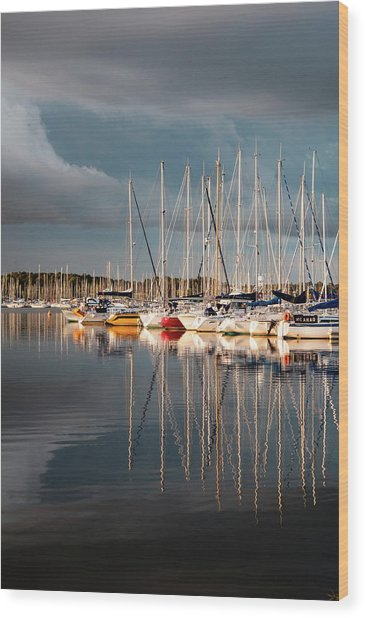 Marina Sunset 9 Wood Print