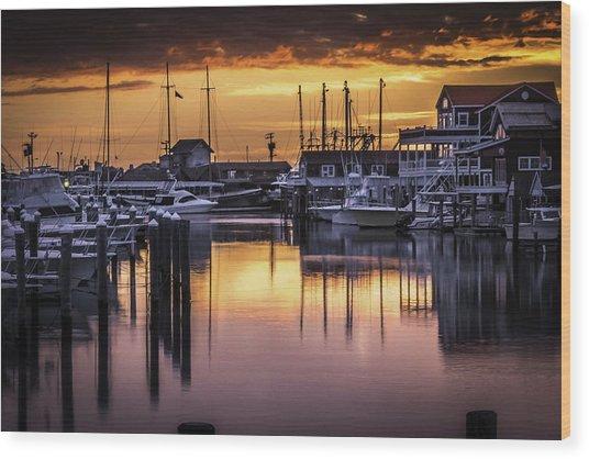 The Floating Sky Wood Print