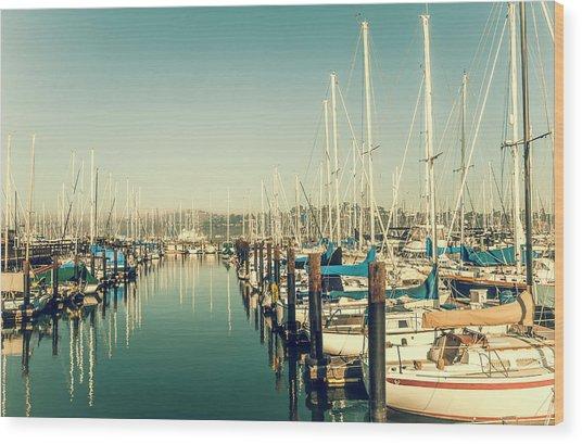 Marinaside Sausalito California Wood Print
