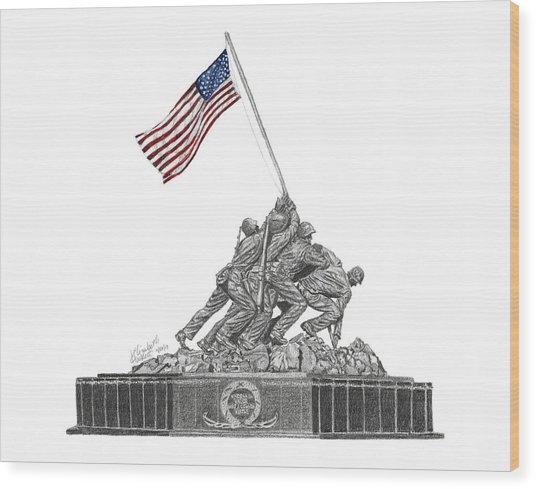 Marine Corps War Memorial - Iwo Jima Wood Print