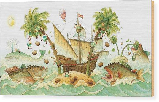 Marine Eggs Wood Print by Kestutis Kasparavicius