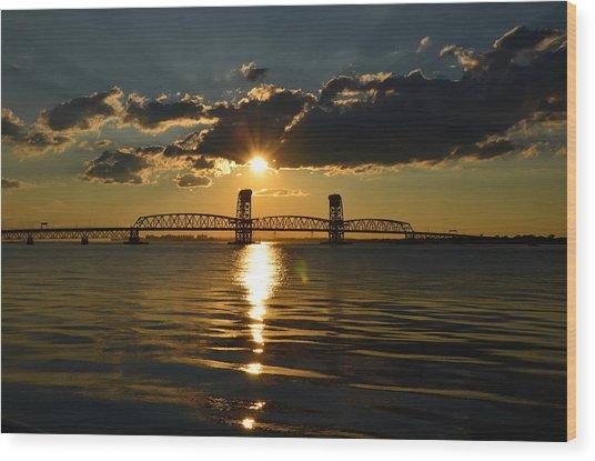 Marine Park Gil Hodges Bridge Wood Print