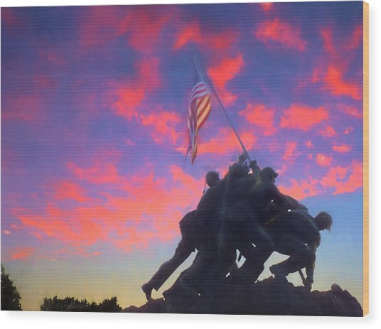 Marines At Dawn Wood Print