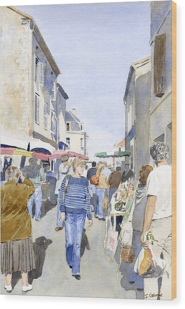 Market Day   Wood Print by Ian Osborne