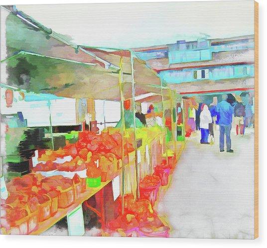 Market Day Wood Print