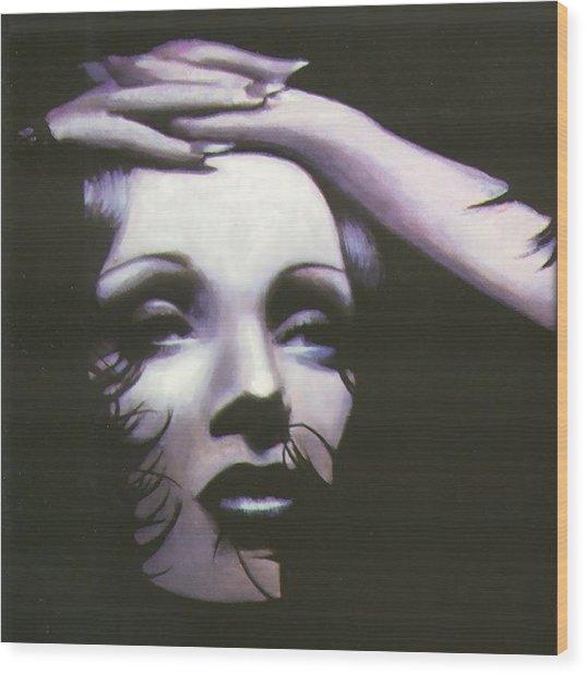 Marlene Dietrich Wood Print by Elizabeth Silk