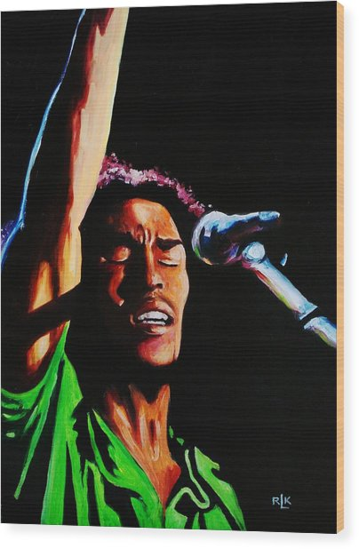 Marley One Love Wood Print by Richard Klingbeil