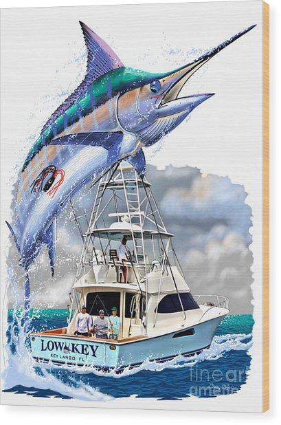 Marlin Commission  Wood Print