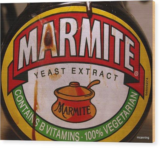 Marmite Wood Print