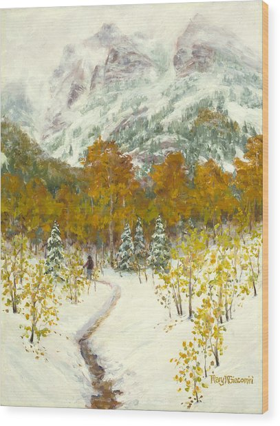 Maroon Bells-snowmass Wilderness Trek Wood Print