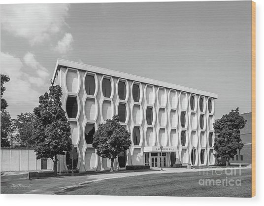 Marquette University Lalumiere Hall Wood Print by University Icons