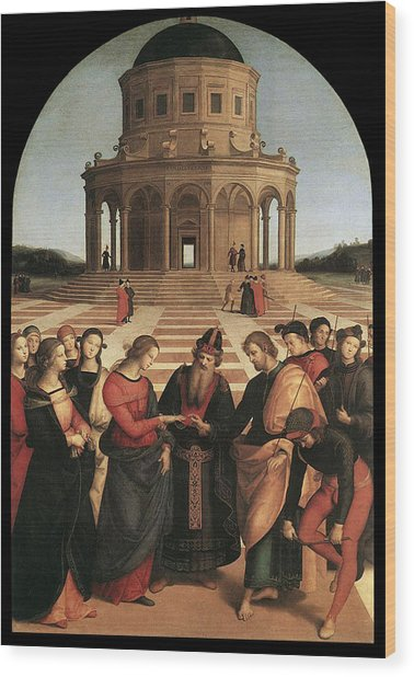 Marriage Of The Virgin - 1504 Wood Print by Raphael