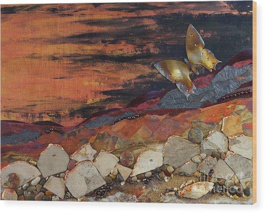 Mars Butterfly Effect Wood Print