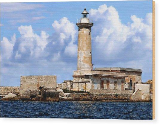 Marsala Lighthouse Wood Print