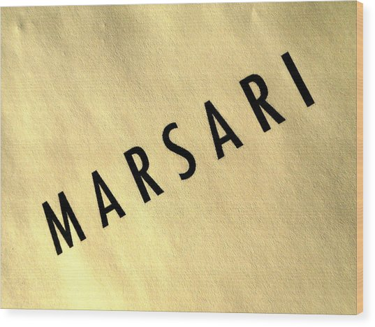 Marsari Gold Wood Print
