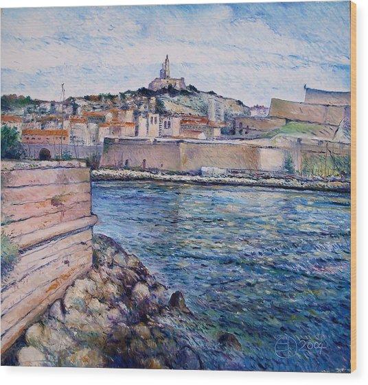 Marseille Pierre Plats Provence France Cm 2004  Wood Print by Enver Larney