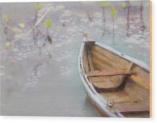Marsh Dory Wood Print