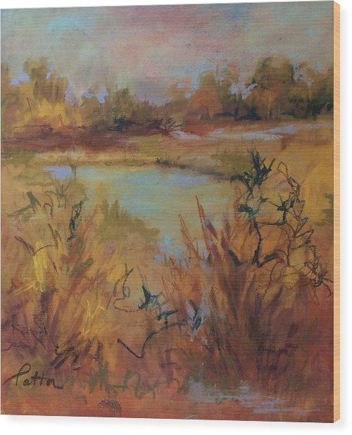 Marsh Memories Wood Print