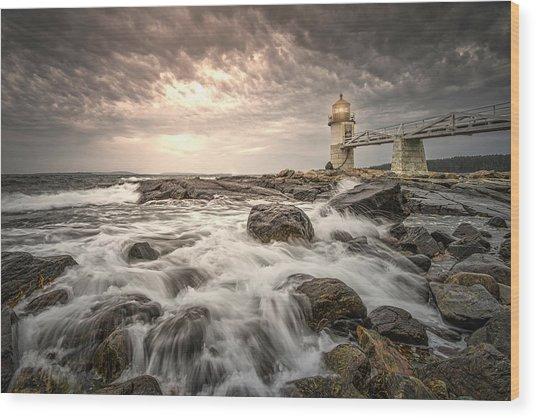 Marshal Point Lighthouse Wood Print