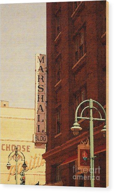 Marshall Bldg Wood Print
