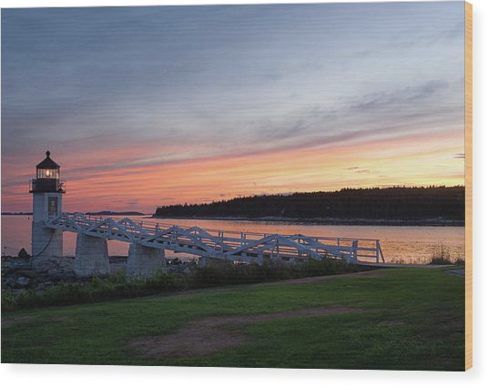 Marshall Point Lighthouse, Port Clyde, Maine -87444 Wood Print