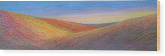 Marshall Sunset Wood Print by Lucinda  Hansen