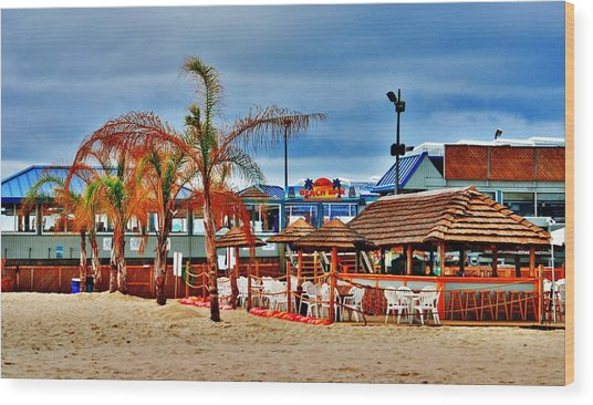 Martells On The Beach - Jersey Shore Wood Print