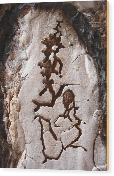 Martian Dance - Tree Bark Art Wood Print