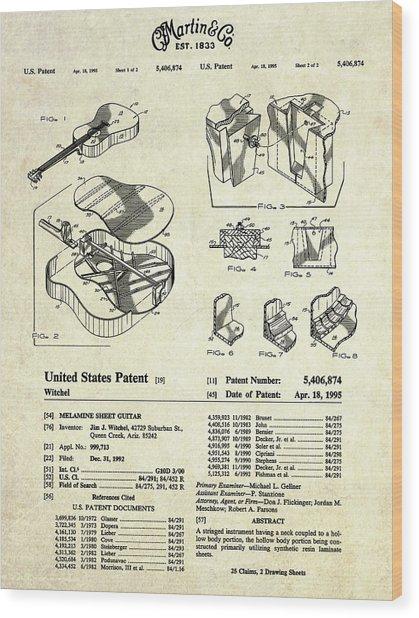 Martin Guitar Patent Art Wood Print