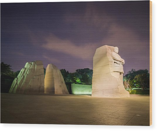 Martin Luther King Jr. Memorial Wood Print