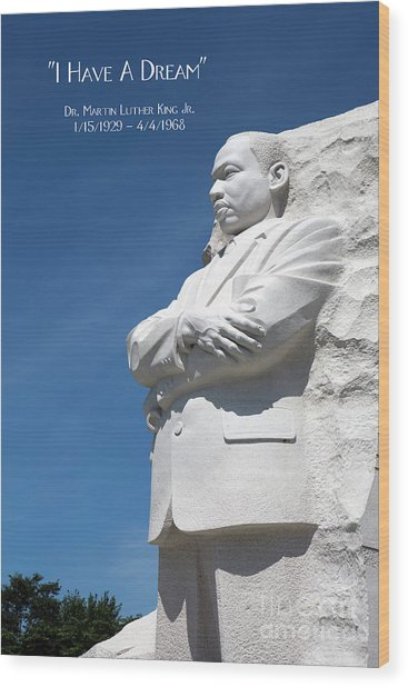 Martin Luther King Jr. Monument Wood Print