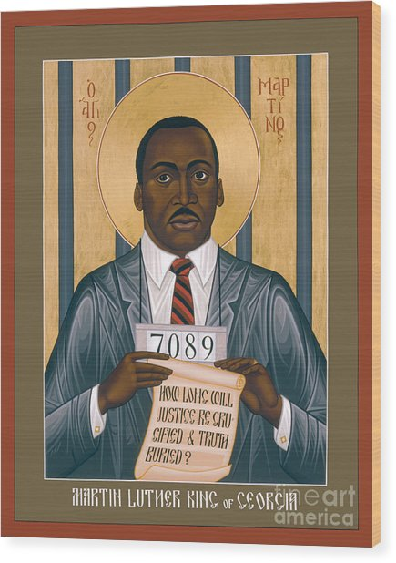 Martin Luther King Of Georgia  - Rlmlk Wood Print