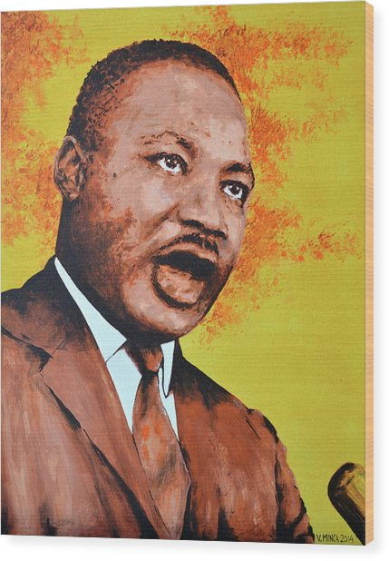 Martin Luther King Wood Print
