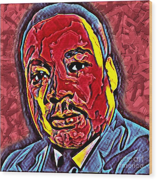 Martin Luther King Jr. Portrait Wood Print