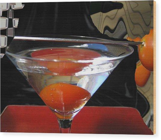 Martini Fantazy1 Wood Print by Evguenia Men