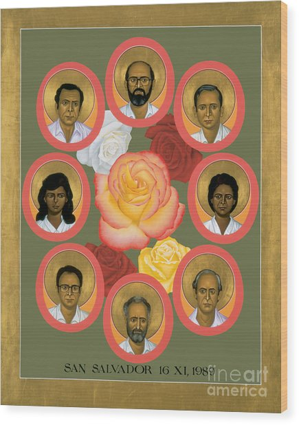 Martyrs Of The Jesuit University - Rlmju Wood Print