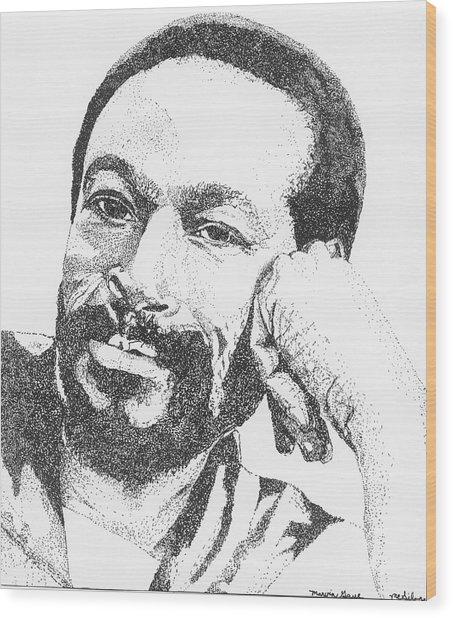 Marvin Gaye  Wood Print