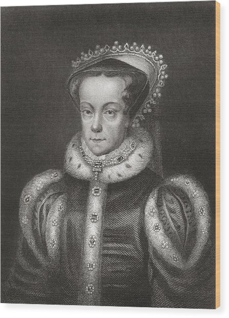Mary I, 1516 Wood Print