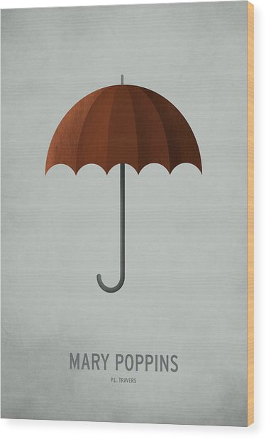 Mary Poppins Wood Print by Christian Jackson